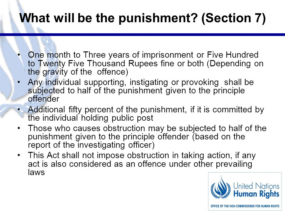 9 What will be the punishment.