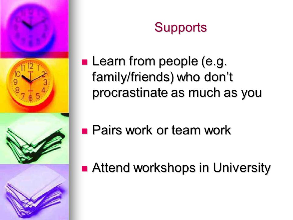 Supports Learn from people (e.g.