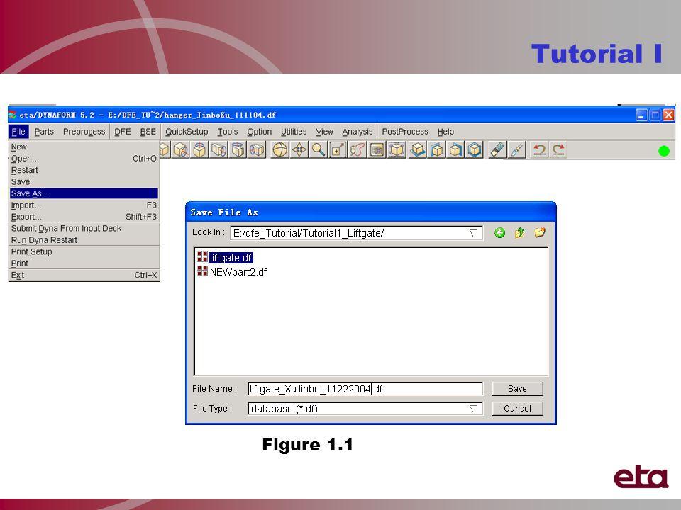 Tutorial I Figure 1.1