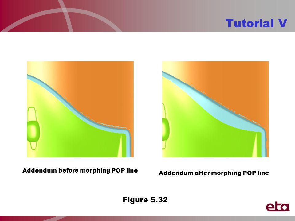 Tutorial V Addendum before morphing POP line Addendum after morphing POP line Figure 5.32