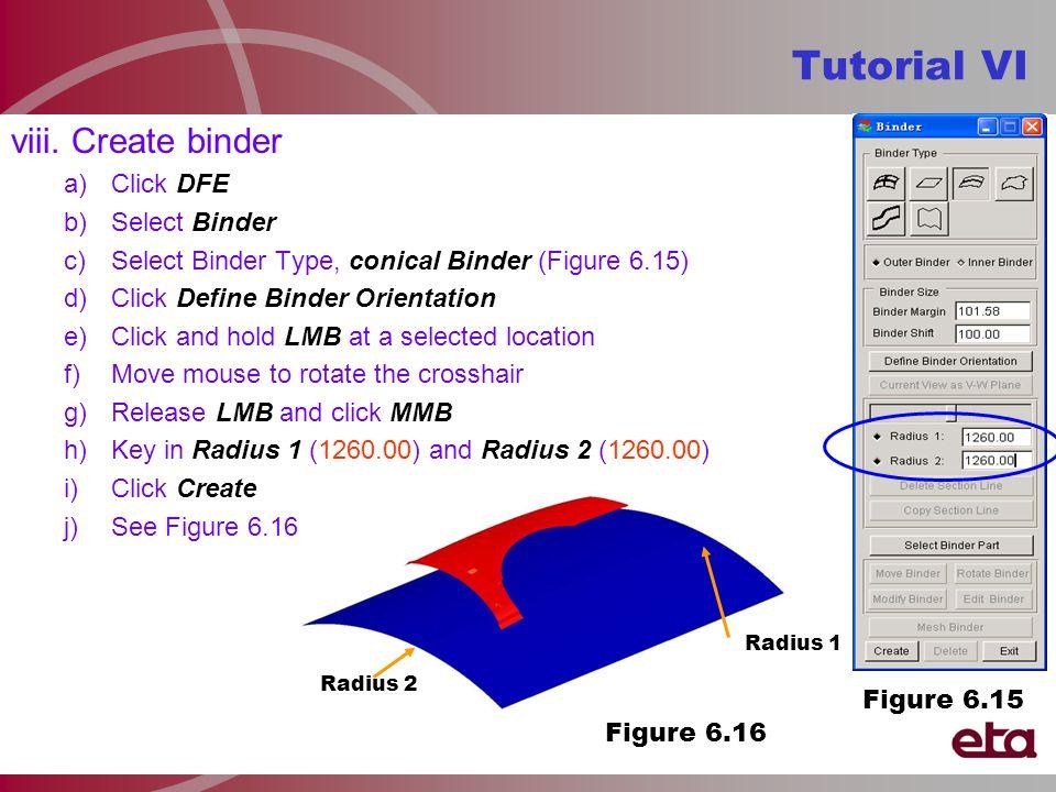 Radius 2 Radius 1 Figure 6.16 Tutorial VI viii.