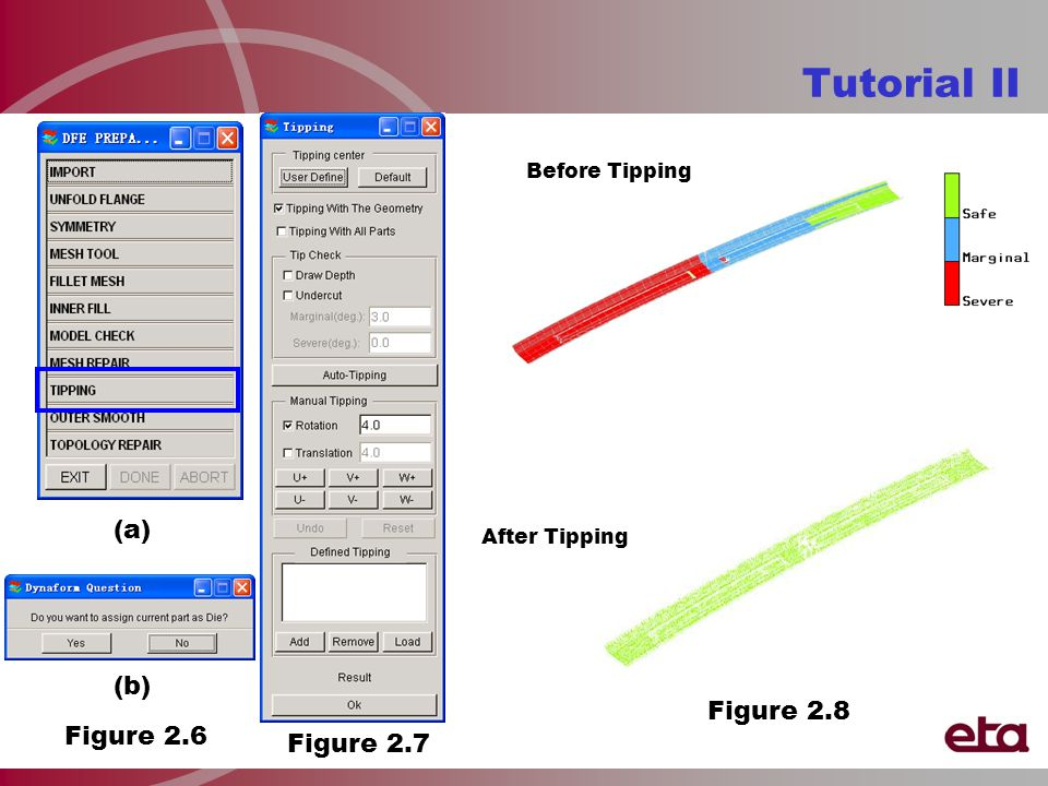 Tutorial II Before Tipping After Tipping Figure 2.8 Figure 2.7 Figure 2.6 (b) (a)