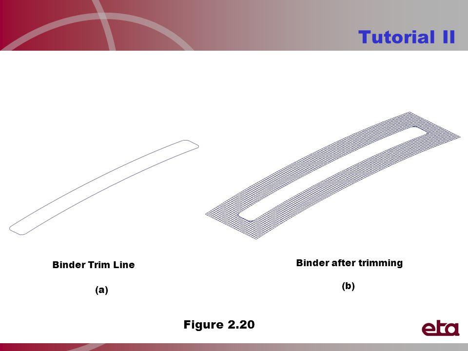 Tutorial II Binder Trim Line Binder after trimming Figure 2.20 (a) (b)