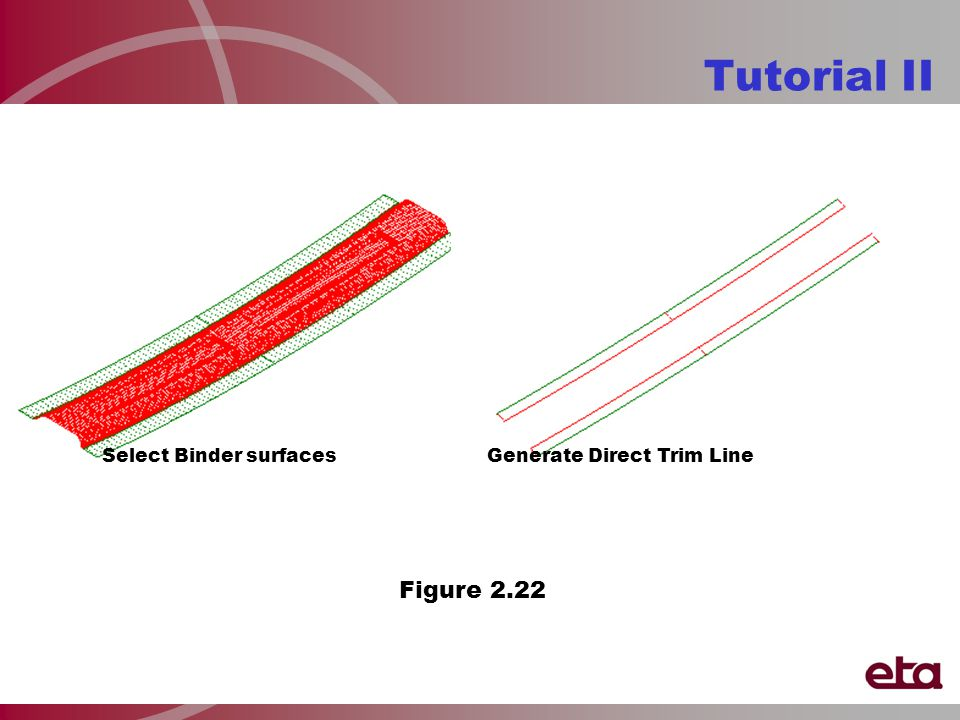 Tutorial II Select Binder surfacesGenerate Direct Trim Line Figure 2.22