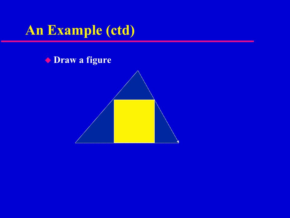 An Example (ctd) u Draw a figure