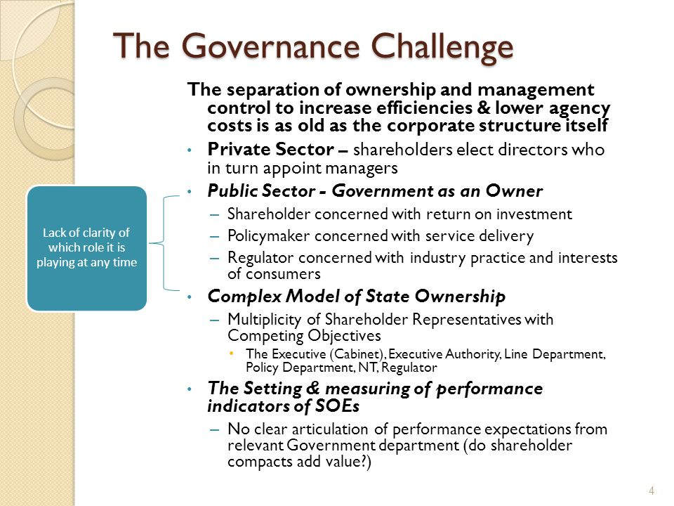 How do SOEs handle the challenge vs the Private Sector? 5