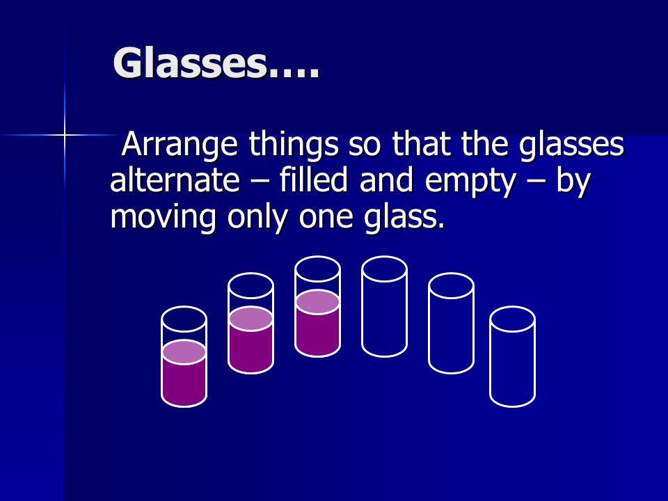 Glasses….