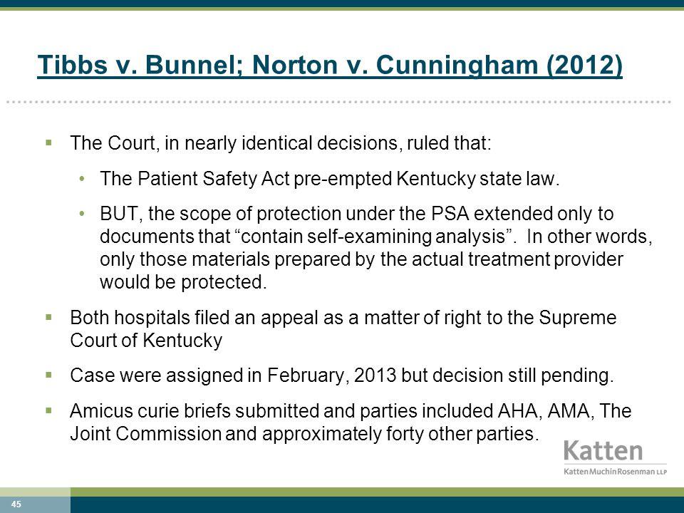 45 Tibbs v. Bunnel; Norton v.