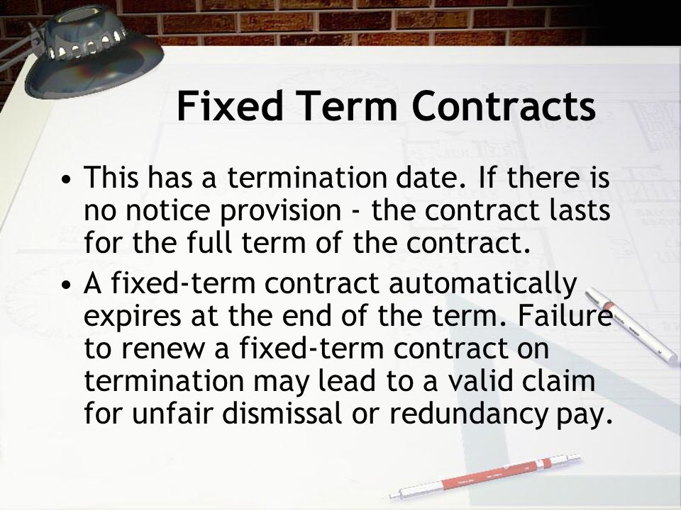 What is reasonable notice. The contractual notice must not be less than the statutory minimum.