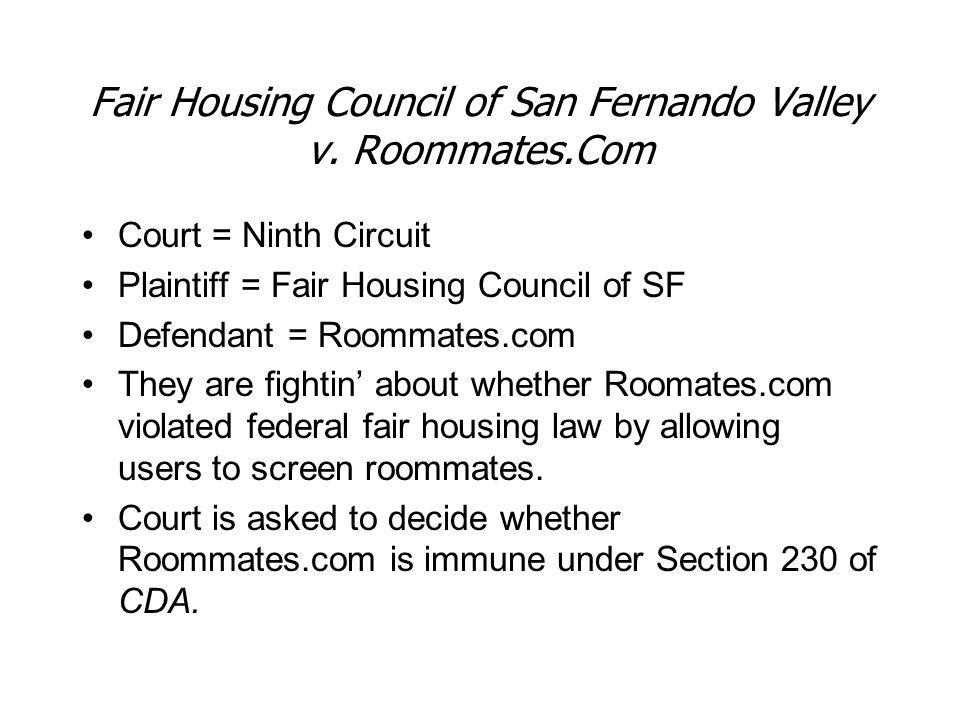 Fair Housing Council of San Fernando Valley v.