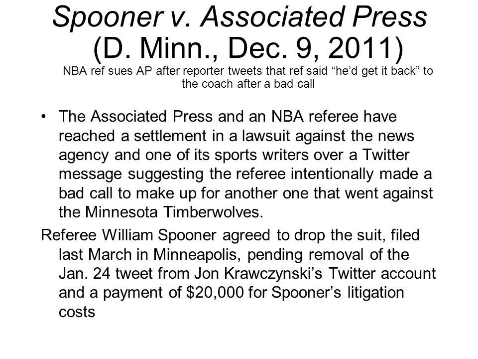 Spooner v. Associated Press (D. Minn., Dec.