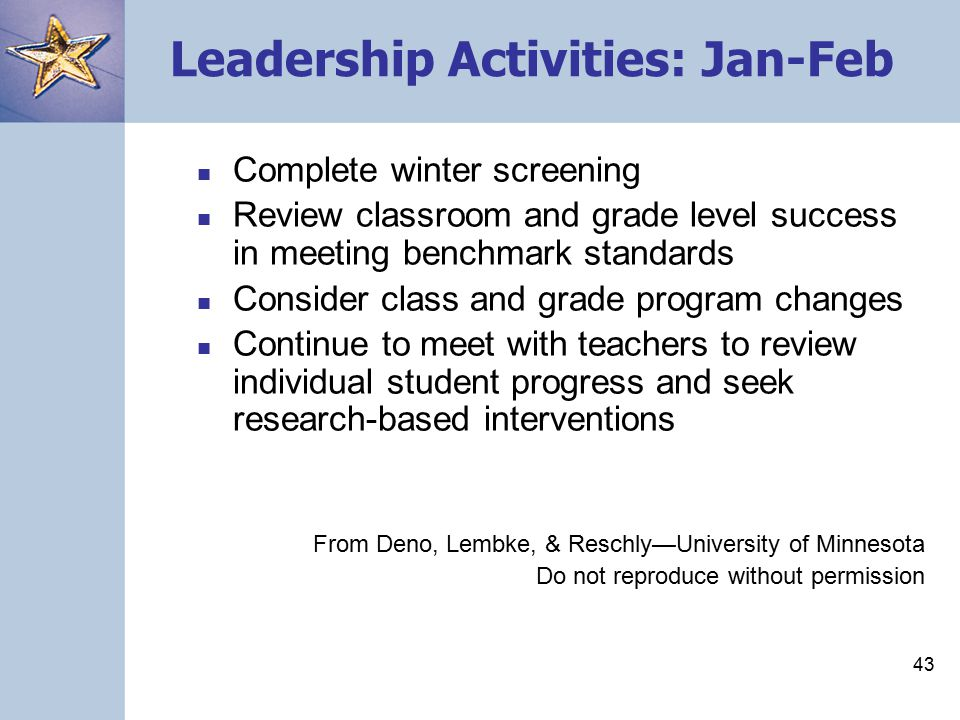 42 Leadership Activities: Nov.