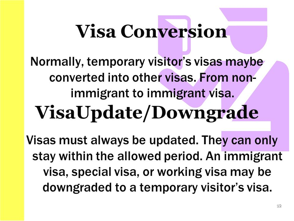 Normally, temporary visitor's visas maybe converted into other visas.