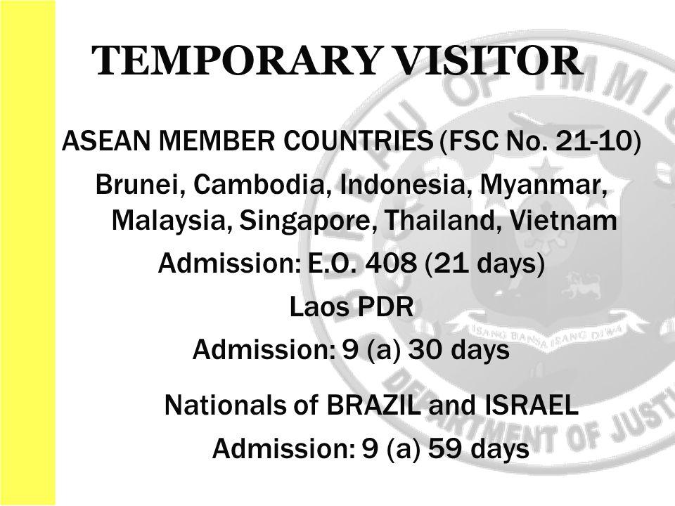 ASEAN MEMBER COUNTRIES (FSC No.