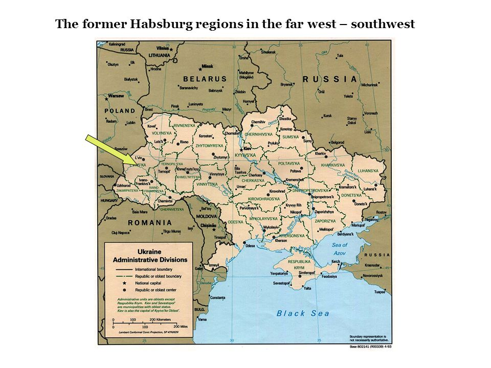 The former Habsburg regions in the far west – southwest