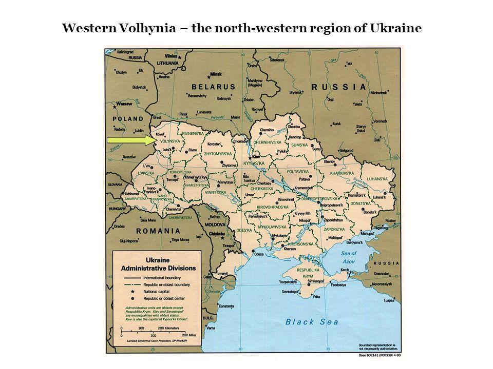 Western Volhynia – the north-western region of Ukraine