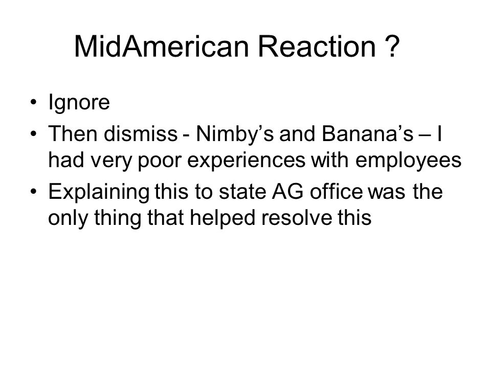 MidAmerican Reaction .