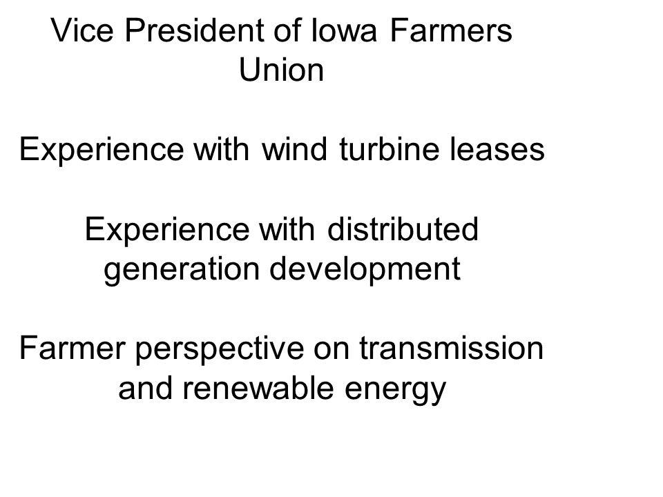 Non-contract landowner/tenant farmer issues Substation location.