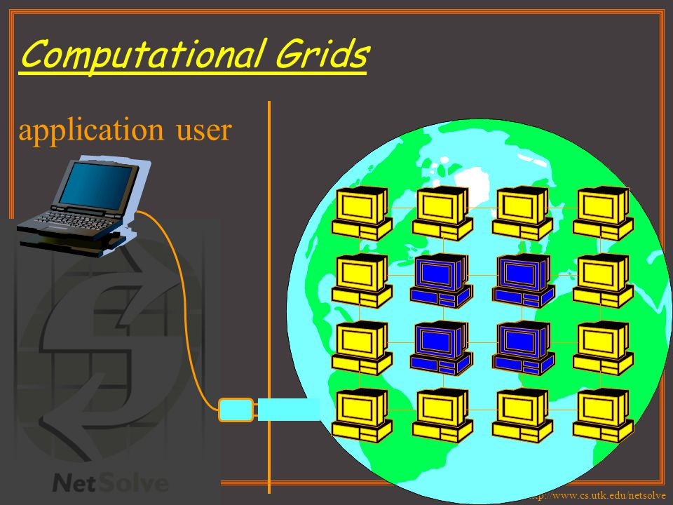 http://www.cs.utk.edu/netsolve Computational Grids application user