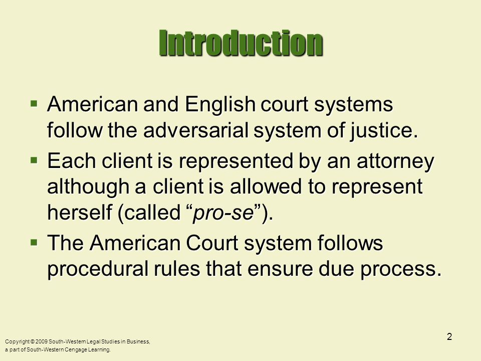 Copyright © 2009 South-Western Legal Studies in Business, a part of South-Western Cengage Learning.