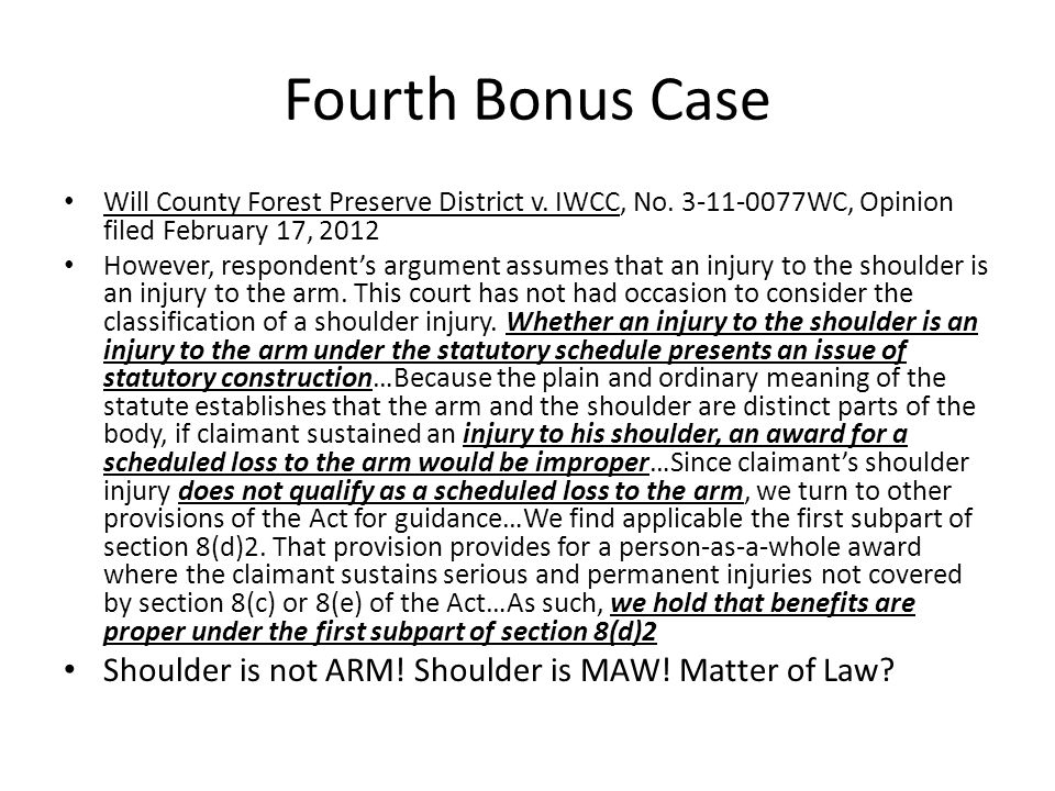 Fourth Bonus Case Will County Forest Preserve District v.