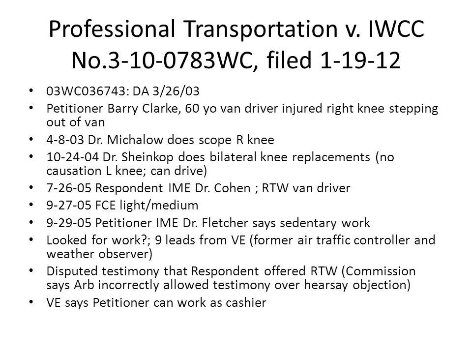 Professional Transportation v.
