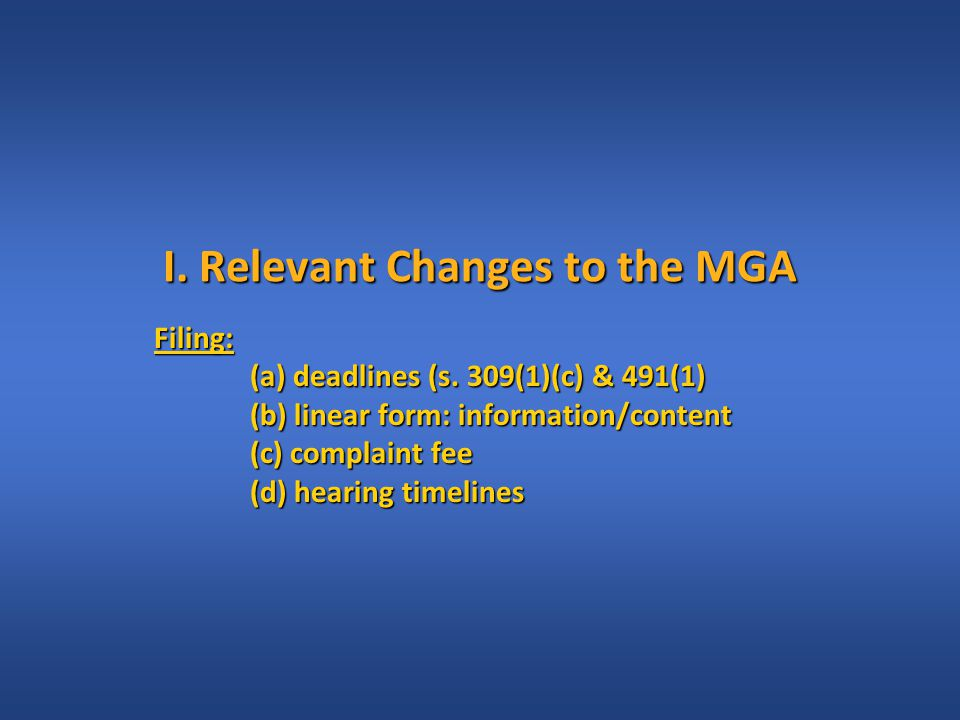 Linear Form: Info & Content (MGA s.491(2)(3)(4); MRAC s.