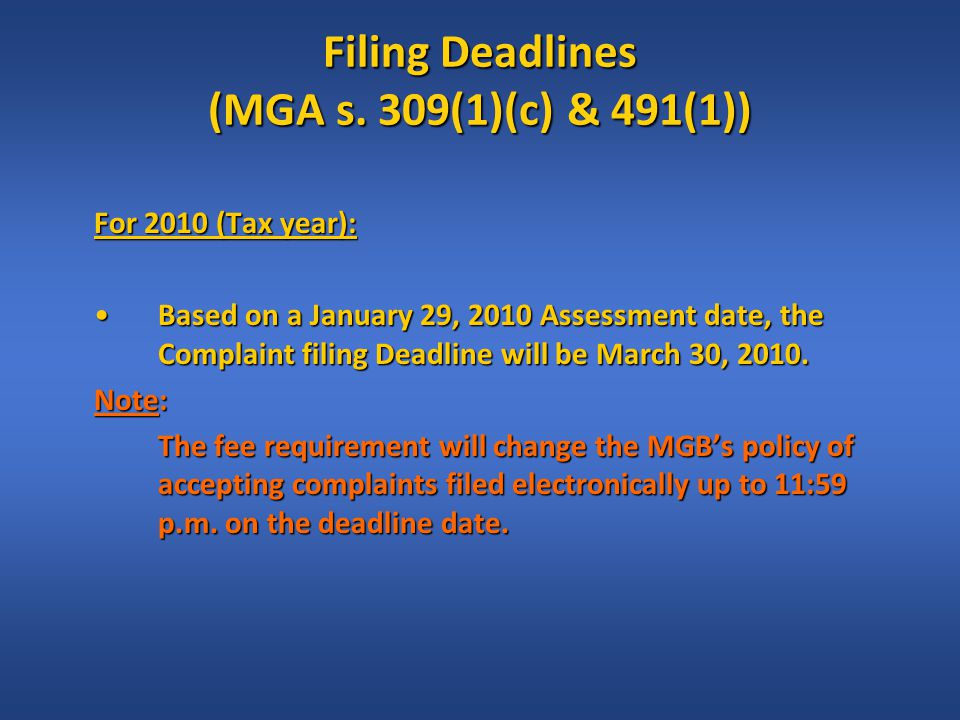Linear Fees: What, When & How (MGA s.527.1; MRAC s.