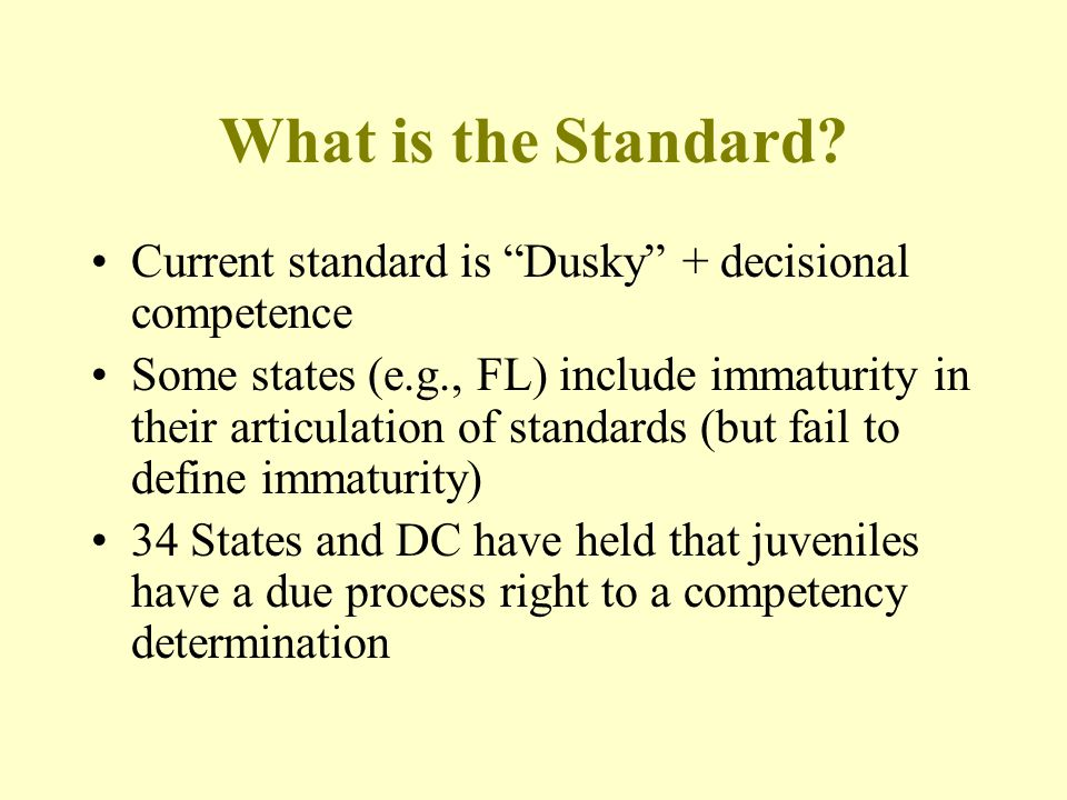 What is the Standard.