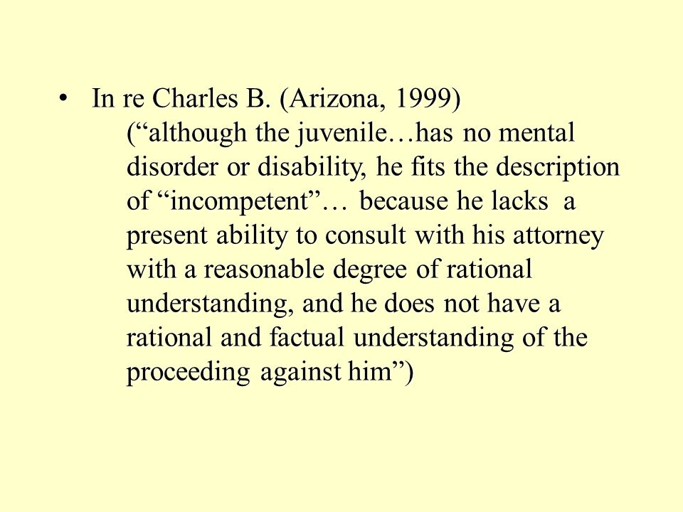 In re Charles B.(Arizona, 1999) In re Charles B.