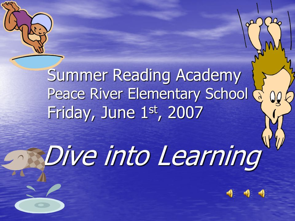 Artifact 10 A PowerPoint created during Summer Reading Academy for initial faculty meeting This artifact was developed during my practicum experience at Summer Reading Academy Summer 2007.