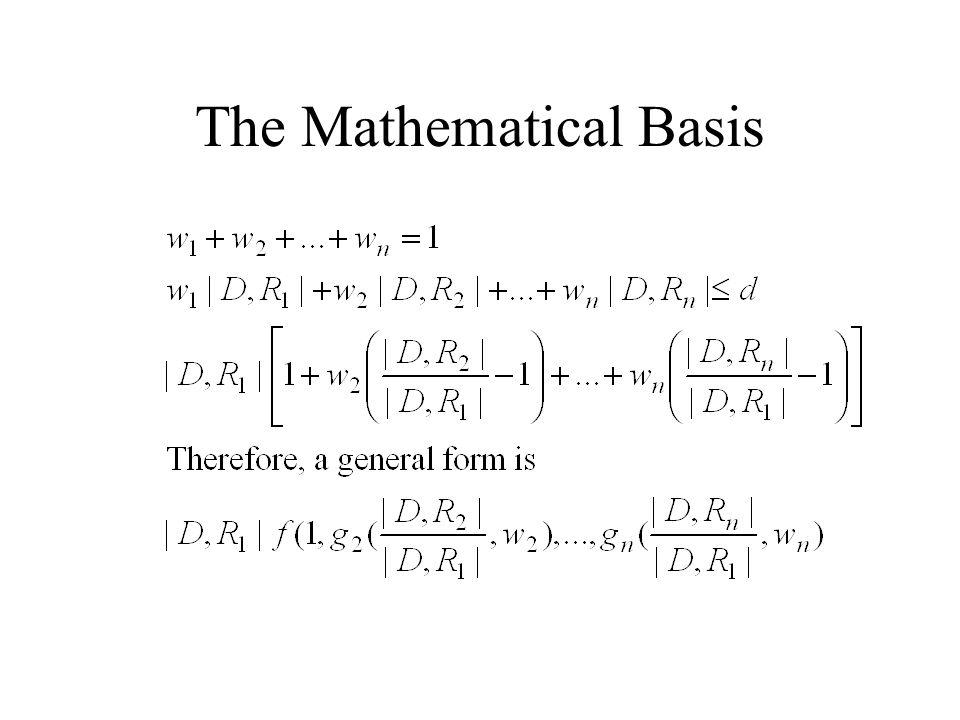The Mathematical Basis