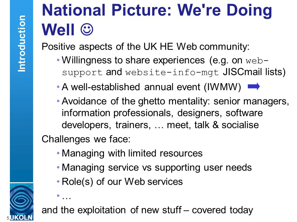 A centre of expertise in digital information managementwww.ukoln.ac.uk 36 Microformats (1) Microformats: Highlight of WWW 2006 Semantic markup on the cheap – builds on existing XHTML pages No need for complex software See Using microformats: Add some simple semantics using,, etc.