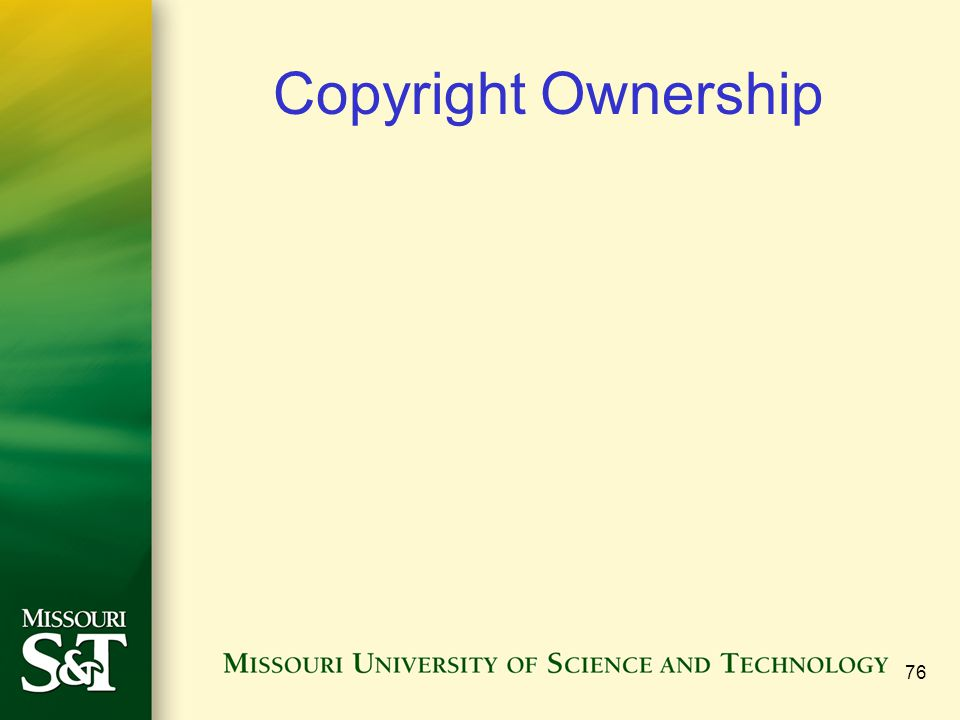 Copyright Ownership 76