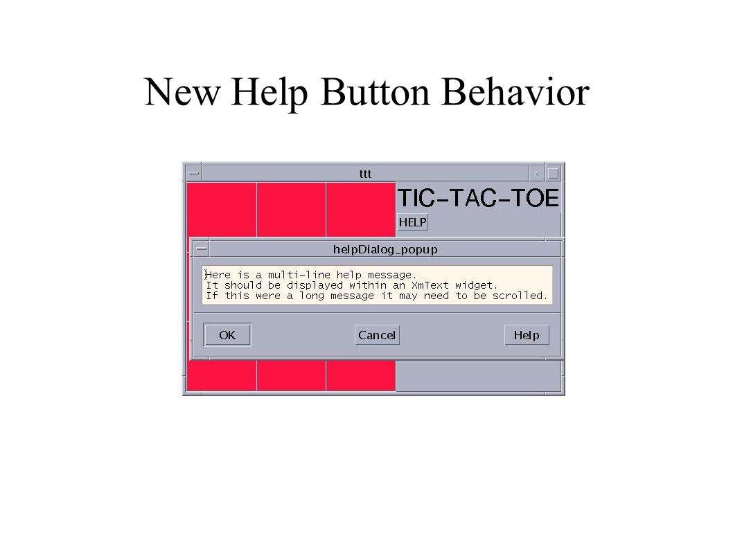 New Help Button Behavior