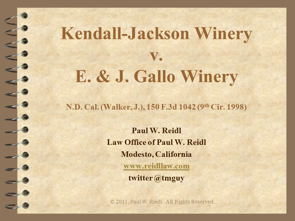 Kendall-Jackson Winery v. E. & J. Gallo Winery N.D.