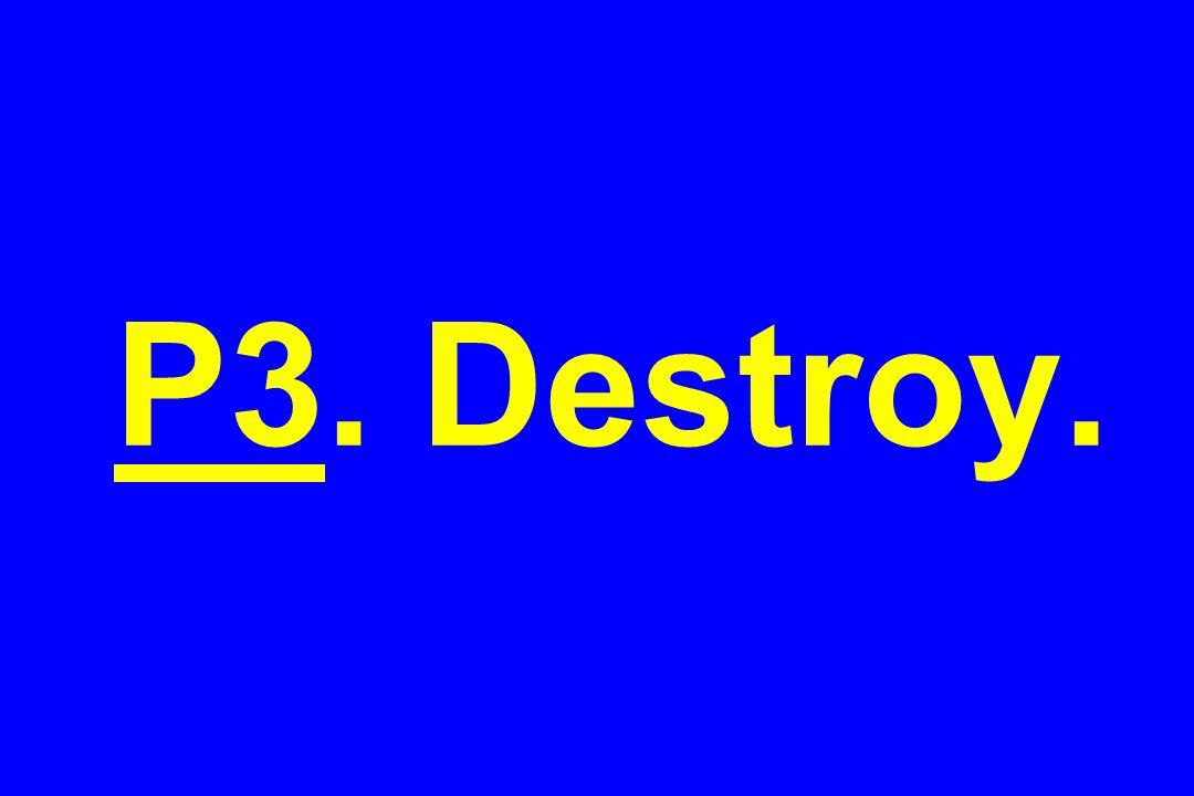 P3. Destroy.