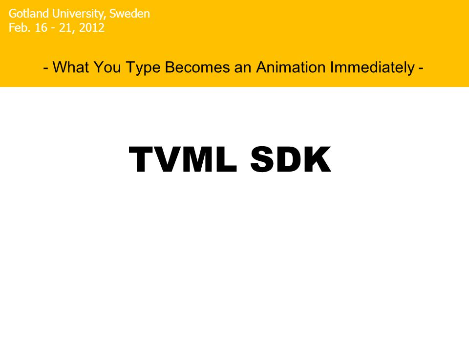 Masaki Hayashi - What You Type Becomes an Animation Immediately - Gotland University, Sweden Feb.