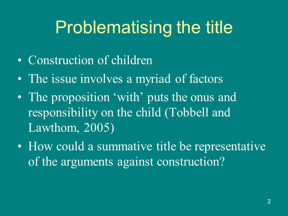 3 Problematising issue Working with people and children is complex Is it more so when the concern is behaviour and emotions.