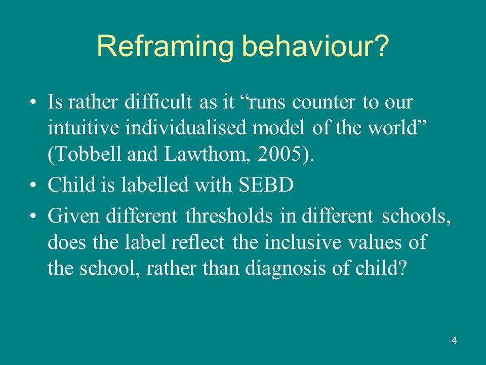 4 Reframing behaviour.