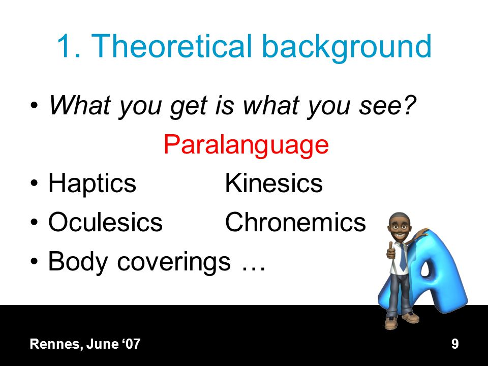1. Theoretical background What you get is what you see.
