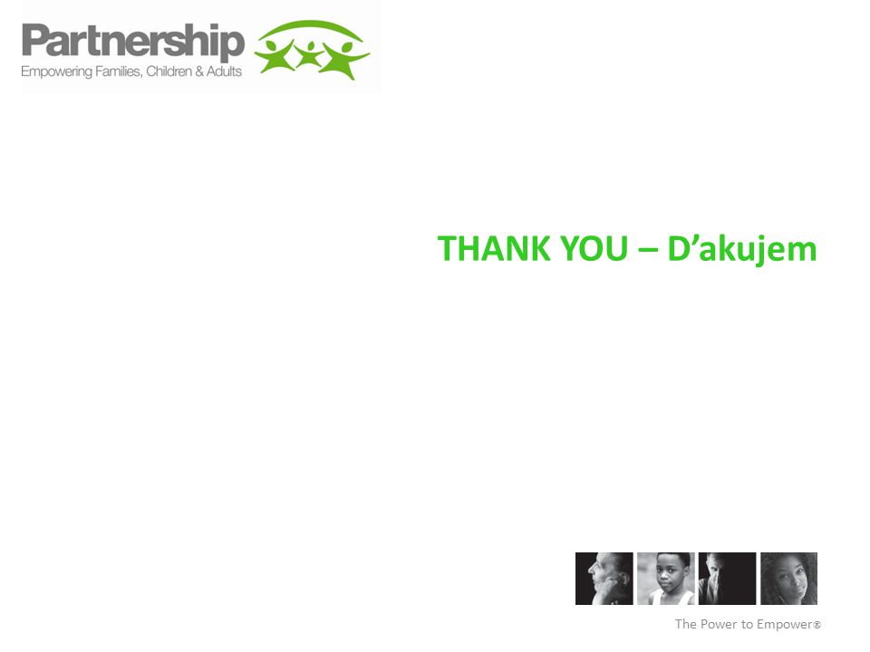 THANK YOU – D'akujem The Power to Empower 