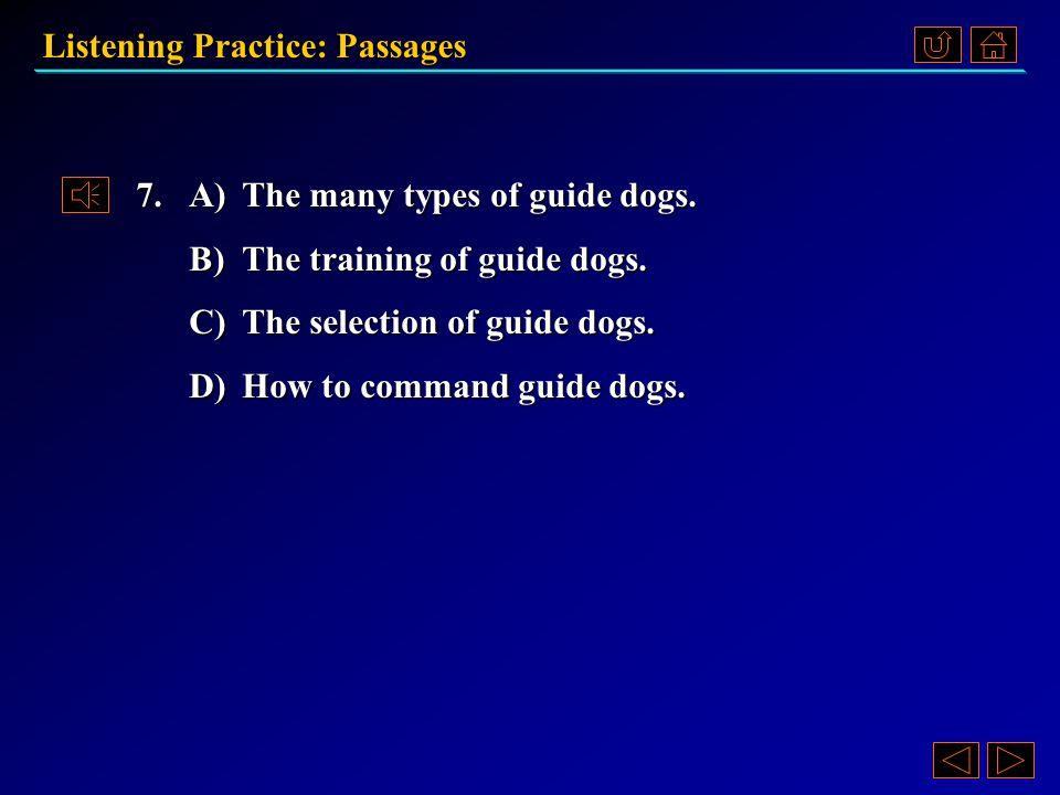 Listening Practice: Passages Passage 3 《听说教程 IV 》 Part 4.3, pp. 83~84