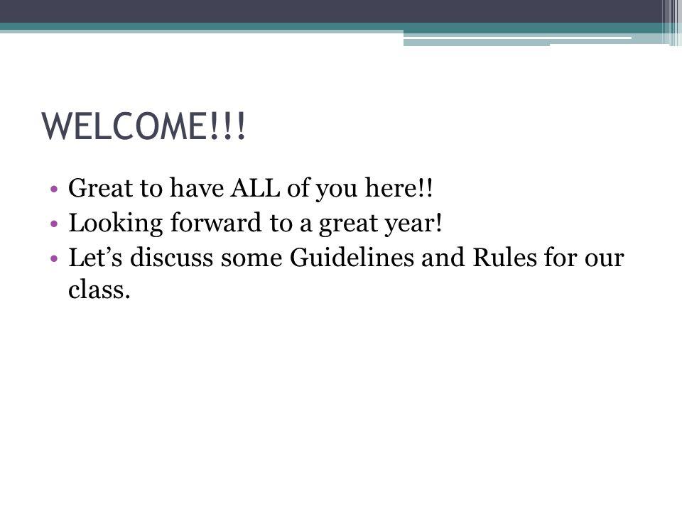 Classroom Procedures, Cont.