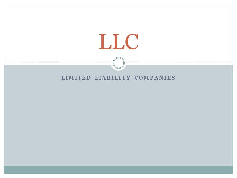 LIMITED LIABILITY COMPANIES LLC