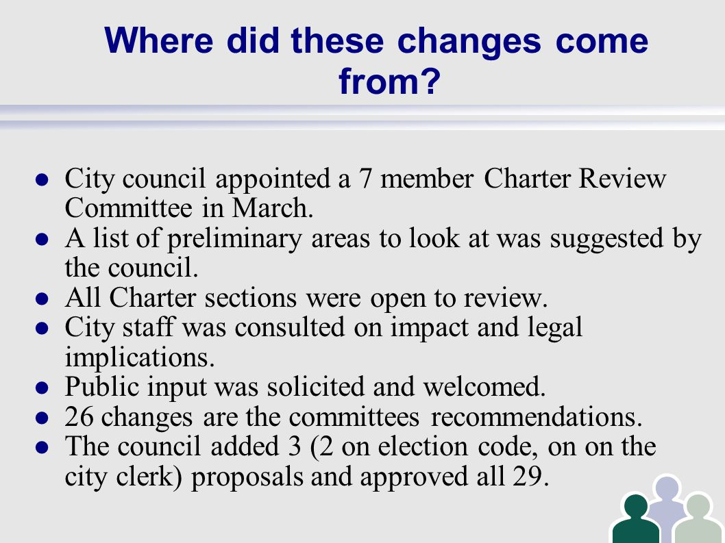Why Change Section 24 Investigation by Council.