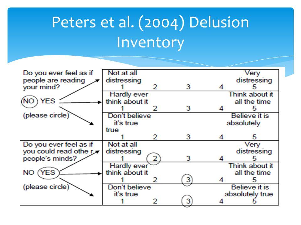 Peters et al. (2004) Delusion Inventory