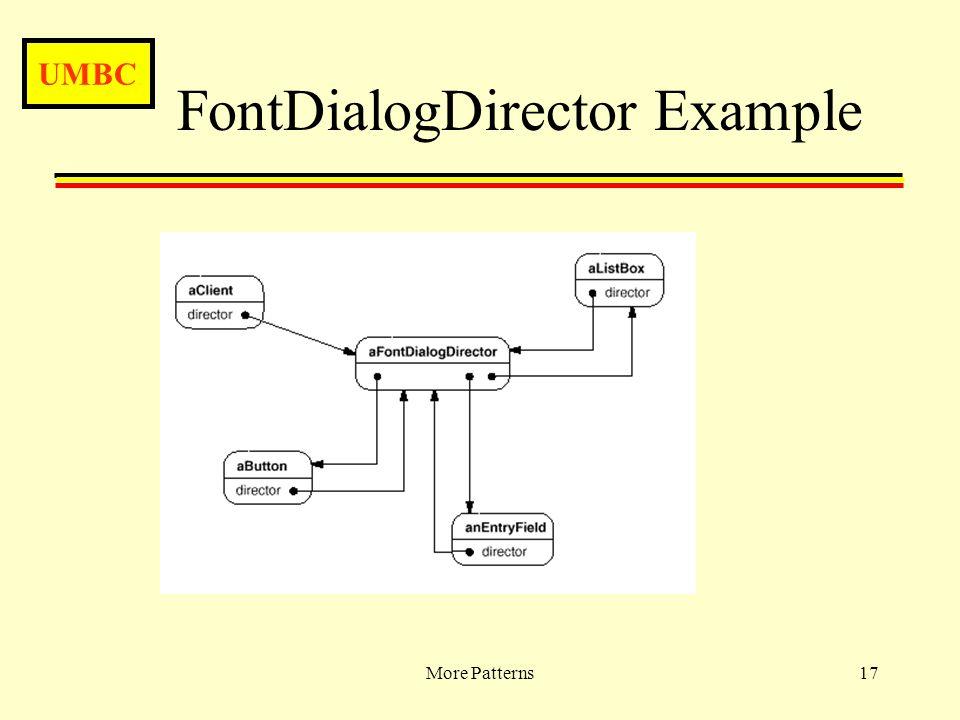 UMBC More Patterns17 FontDialogDirector Example