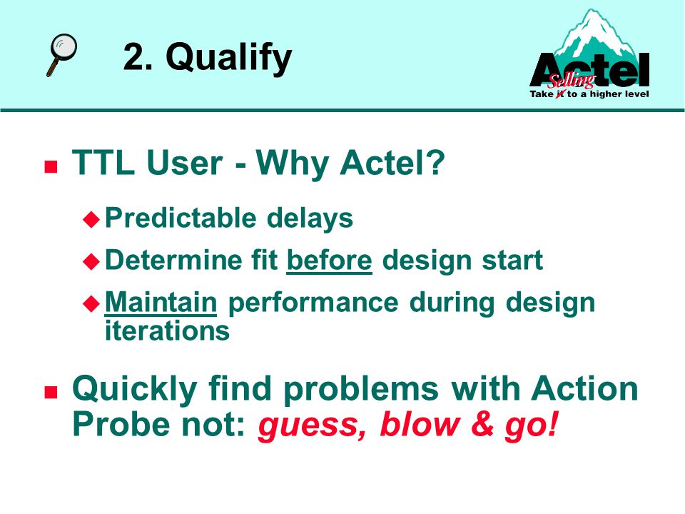 TTL User - Why Actel.