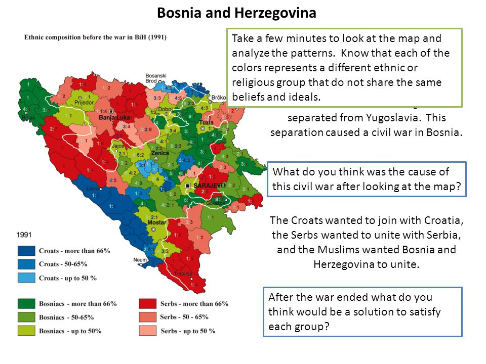 Bosnia and Herzegovina In 1990 Bosnia and Herzegovina separated from Yugoslavia.
